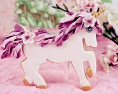 unicorn cookies by Bubble and Sweet: Princess Party Fun Cookies, Cake Cookies, Decorated Cookies, Cupcakes, 3rd Birthday Parties, Baby Birthday, Birthday Ideas, Unicorn Cookies, Brookies