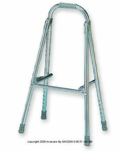 """(EA) Folding Hemi Walker by APEX/CAREX HEALTHCARE. $73.48. Product is sold on this unit of measure - EA. Especially designed for people with the use of only one hand. Folds for compact storage. Adjusts 30"""" - 34"""". Weight capacity: 300 lbs. Product weight 3(1/4) lbs.. Save 20%!"""