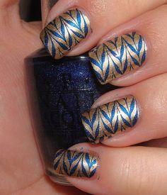 WVU manicure
