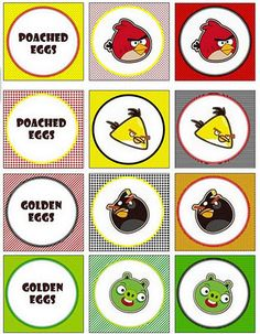 free angry birds cupcake toppers. fit 2 inch hole punch