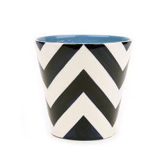 Jill Rosenwald #5 Vase - Chevron in Navy