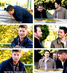 "(gif set) ""Hey! You too. Keep an eye on him."" 