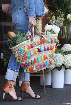 El blog de Dmc: Tutorial para decorar un cesto con borlas
