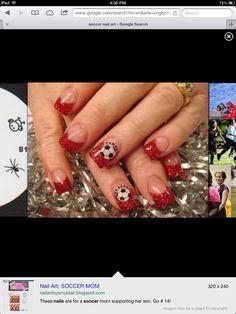 Soccer mom nails!