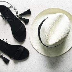 Just got back home from a little vacation and missing it already. It was hat, sandals and sun  / #jcrew