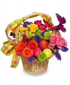 Easter Flower Arrangement Pictures | Easter Flower Baskets ...