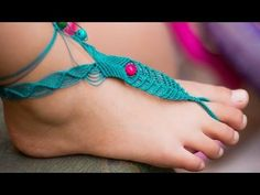 Macramé Barefoot Sandal Anklet with Beads [DIY] Tutorial - YouTube
