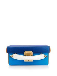 Grace small colourblock leather box bag  | Mark Cross |