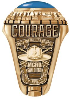Marine Corps Drill Instructor - Dan Diego. A beautiful Marine Corps Ring available at Military Online Shopping