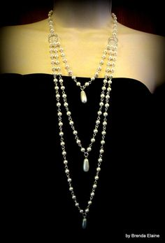 Reminds me of Downton Abbey Jewelry - Dramatic and Elegant Teardrop Pearl Necklace by byBrendaElaine, $62.00