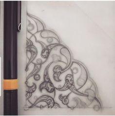 Islamic Art Pattern, Pattern Art, Pattern Design, Illumination Art, Arabic Art, Arabesque, Ornaments, Islamic Designs, Drawings