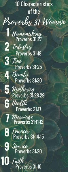 10 Characteristics of the Proverbs 31 Woman