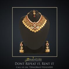 Long-lived, reborn and powerful – This Antique Jewellery Set lives up to its characteristics and remains everyone's favourite pick.  Our Antique Jewellery Set, is a perfect Bridal Set for you this wedding season which includes Bajuband, Hathphool, Damini, Maang Tikka.  SKU Code - K349G MRP - Rs. 25000  Rent - Rs. 5000  #RentIsTheNewBlack #DontRepeatItRentIt #RentFashion #AntiqueJewellery #JewelleryOnRent #Jewellery #SriShringarRentsIt #BridesOfIndia #India #Mumbai #VileParleEast #Brides