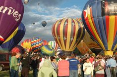 Big crowds enjoy the Great Reno Balloon Race, Nevada, NV