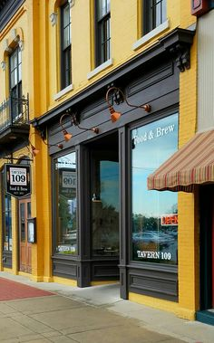 Tavern grand river avenue, williamston mi, your Shop Interior Design, Exterior Design, Vitrine Vintage, Shop House Plans, Shop Fronts, Shop Front Design, Shop Window Displays, Layout, Vintage Design