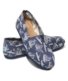 Look at this TOMS Navy Sailboat Canvas Classics on #zulily today!