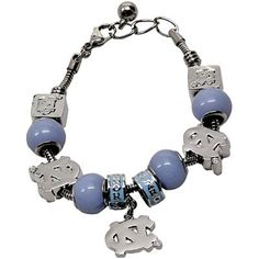 University of North Carolina (UNC) Charm Bracelet