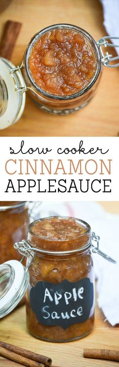 Slow Cooker Cinnamon Applesauce from What The Fork Food Blog | @whattheforkblog | whattheforkfoodblog.com