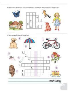 Bawię się i uczę. Główkowanki. Kreatywne krzyżówki School Worksheets, Asd, Kindergarten, Education, Marcel, Puzzle, Google, Speech Language Therapy, Learning