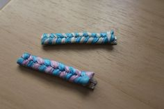 Ribbon Wrapped Hair Pins $7.00   http://www.etsy.com/listing/93774655/ribbon-wrapped-hair-accessory