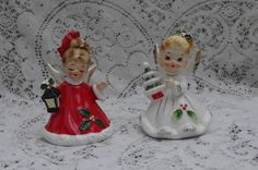VINTAGE JOSEF ORIGINALS CHRISTMAS ANGEL w TREE & ANGEL BELL | eBay