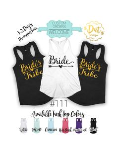 5b8ef191 Bride and Bride's Tribe Bachelorette shirts,Bachelor party shirts---Fats  Shipping,