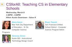 EdTechSandyK: CS for All: Teaching CS in Elementary Schools #SXSWedu #CSForAll