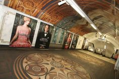 Oxford Circus tube station gets Great Gatsby makeover Street Marketing, Croydon Tram, Oxford Circus Station, Docklands Light Railway, The Great Gatsby 2013, London Overground, London Transport, World Traveler, Stunts