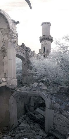Chateau de Bagnac - abandoned in Limousin, France.                              …