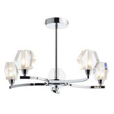 Dar LAN0550 Lancaster 5 Light Ceiling Semi Flush in Chrome from Lights 4 Living