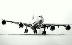 Pencil drawing Airbus A340