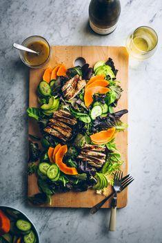 Marinated chicken & papaya salad — The Broken Bread Papaya Recipes Healthy, Healthy Pasta Recipes, Fruit Recipes, Cooking Recipes, Saveur Recipes, Slow Food, A Food