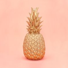 STYLE: gold are you guilty of spray painting your fresh pineapples gold to make #art? same, girl, same. this gold pineapple lamp by goodnight light will save all of your fresh fruit and will leave all