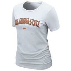 Nike Oklahoma State Cowboys Ladies Arch Crew Slim Fit T-Shirt - White  Oklahoma State d48b63b8d82f