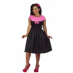 Pink dot Boat Neck Dress