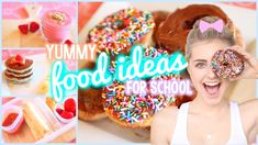Easy Breakfast & Lunch Ideas for School! | Aspyn Ovard  I loved this video! Everything is simple, and easy to make!