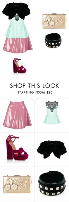 """if star butterfly light was on a show like scream queens outfit 3"" by miliorobb on Polyvore featuring Boohoo, City Chic, Aquazzura, Jocelyn, Rimen & Co. and Valentino"