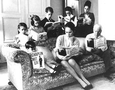 Charlie Chaplin & his family