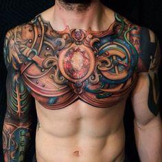 Full Men's Chest Tattoos
