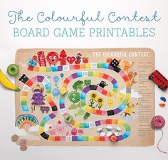 Colourful Contest Board Game Printables! | Tinyme Blog