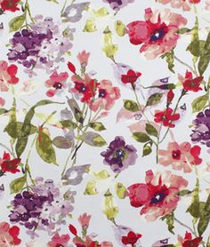 HGTV Color Study Berry Fabric - $22.85 | onlinefabricstore.net for my living room maybe?
