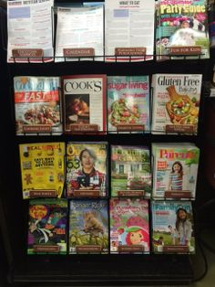The Healthy Checkout Line in Harmons grocery stores features family-friendly and health-oriented magazines. Non-food options are a great choice for checkout. (Harmons, Farmington, UT, 4/14)