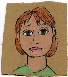 Self portraits on cardboard
