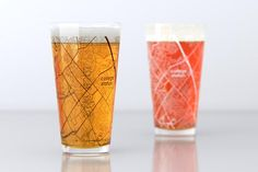 College Station, TX - Texas A&M - College Town Map Pint Glass Set