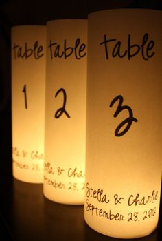 Items similar to Floral Table Numbers Luminaries / Table Markers / Table Tents / Wedding Table Numbers on Etsy Perfect Wedding, Our Wedding, Dream Wedding, Wedding Signs, Wedding Stuff, Wedding Centerpieces, Wedding Decorations, Table Centerpieces, Table Lanterns