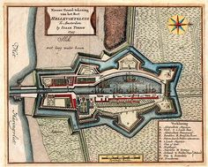 Plattegrond van Hellevoetsluis in 1745, Zuid-Holland, Tirion Early World Maps, Star Fort, Hellenistic Period, Classical Antiquity, Today In History, Old Maps, Janis Joplin, Fortification, City Maps