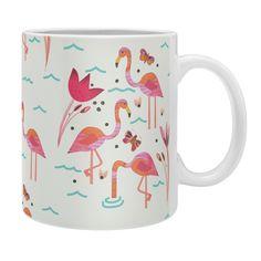 Gabriela Larios Flamingo Scene Coffee Mug   DENY Designs Home Accessories