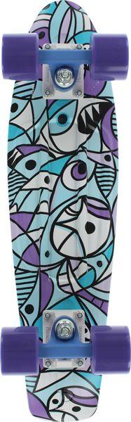 "DriftingThru.com, Drifting Thru llc - Penny 22"" Pendleton Complete Blue/Purple .Pc, $95.00 (http://driftingthru.com/penny-22-pendleton-complete-blue-purple-pc/) #pennyskateboard #pennyboard"