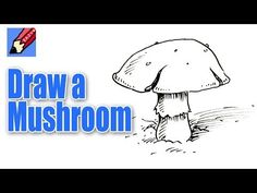 How to draw a Mushroom Real Easy - YouTube