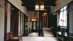 To mark 150 years since the birth of Charles Rennie Mackintosh, we're looking back at five projects that defined his career. First up is Hill House Art Nouveau, Art Deco, London Architecture, Interior Architecture, Interior Design, Mackintosh Furniture, Charles Rennie Mackintosh Designs, Feature Wall Bedroom, Restaurants